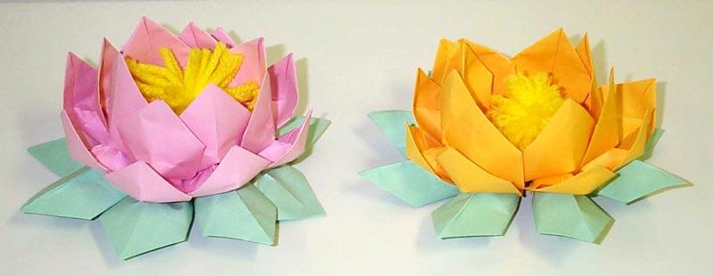Paper Folding Lotus Flower