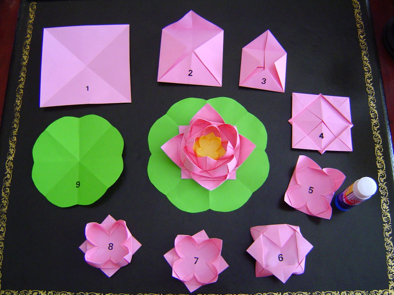 How to Make Paper Lotus Flower Origami