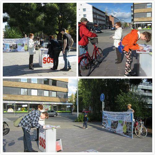 '圖:芬蘭北部的人們簽名反對活摘器官'