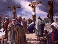 耶穌被釘死在十字架上(網絡圖片﹒繪畫)