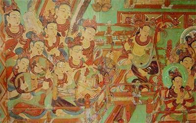 '被保存下來的敦煌壁畫'