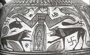 '希臘出土的穀物罐'