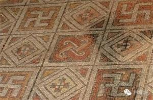 '以色列發現的卍字圖形馬賽克地磚'