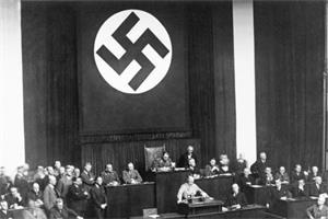 '希特勒把黑色卍字符當作納粹招牌'